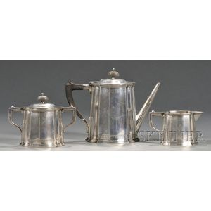 Frank M. Whiting Three-piece Sterling Tea Set