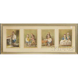 Four James Gillray (1756-1815) Medicinal Prints