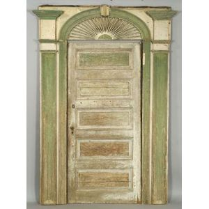 Painted Pine Classical Exterior Entryway