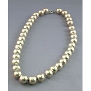 Strand of Sterling Silver Beads.