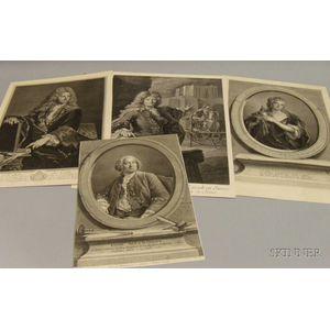 Lot of Seven Unframed Prints of English Portraits