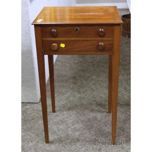 Federal Mahogany Two-Drawer Stand.