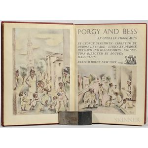 Gershwin, George (1898-1937) Porgy and Bess, an Opera in Three Acts,   Signed Limited Edition Copy.
