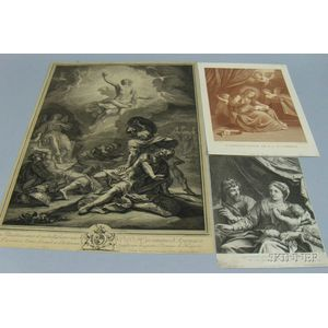 Lot of Four Unframed Prints of New Testament Subjects