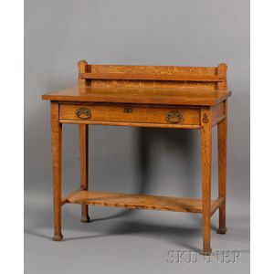 Roycroft Arts and Crafts Copper-mounted and Oak Side Server