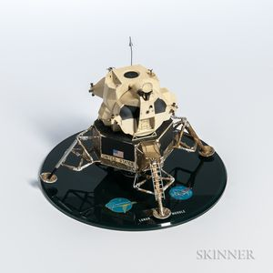 Apollo Lunar Module Model, Grumman and NASA, Photographs and Related Material, 1966-1969.