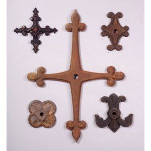 Five Cast Iron Architectural Supports