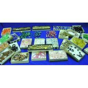 Group of Twenty-seven Crystal and Plastic Bead Necklace and Earring Sets