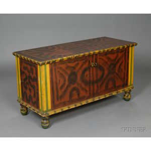 Paint-decorated Dower Chest