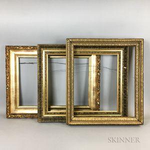 Three 19th and 20th Century Gilt-gesso Frames