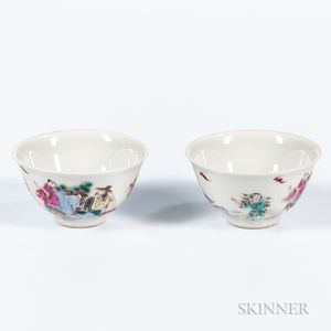 Pair of Famille Rose Cups