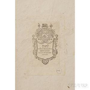 Wilson, Alexander (1766-1813) American Ornithology  , Volumes I, II, III, and V; Ex Dono Thomas Hollis, Ex Libris Harva