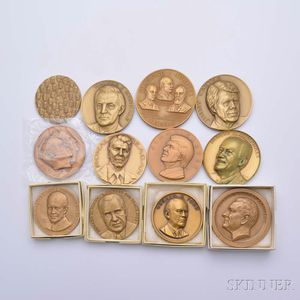 Twelve Mostly Presidential Bronze Medals