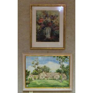 Two Framed Watercolor on Paper/board Works