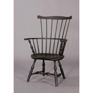 Windsor Black-painted Fan-back Armchair