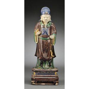 Sancai Glazed Figure