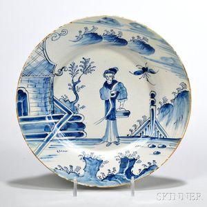 Tin-glazed Earthenware Maiden   Dish