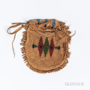 Apache Beaded Hide Pouch