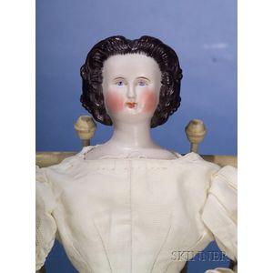 Jenny Lind-Type Parian Shoulder Head Doll