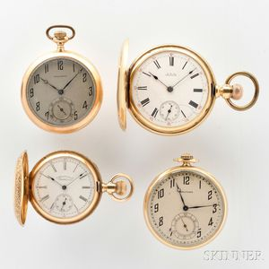 Four Gold Waltham Pocket Watches