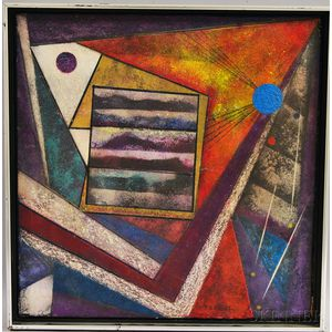 Theodore Gilbert Haupt (American, 1902-1990)      Untitled Abstract Composition.