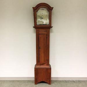 Federal Silas Hoadley Pine Case Clock