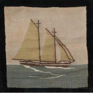 Grenfell Hooked Mat with Schooner