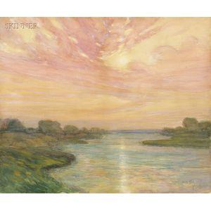 William Jurian Kaula (American, 1871-1953)      River at Sunset