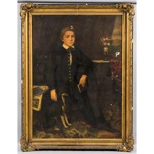 Lambert Sachs (Pennsylvania/Germany, 1818-1903)      Portrait of a Boy and His Dog