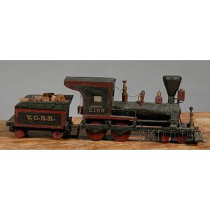 Scratch-built Vermont Central Railroad Steam Locomotive and Tender