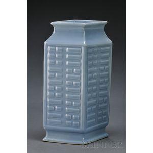 Powder Blue Trigram Vase