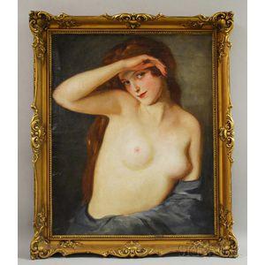 Maria Szantho (Hungarian, 1897-1998)      Portrait of a Female Nude.