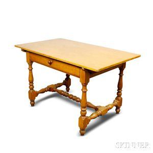 William and Mary-style Maple One-drawer Tavern Table