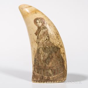 Scrimshaw and Polychrome Decorated Whale
