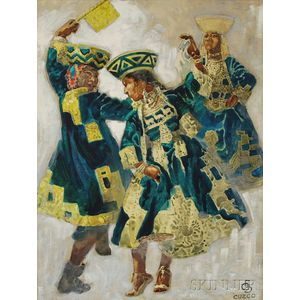 Latin American School, 20th Century      Cuzco Dancers.