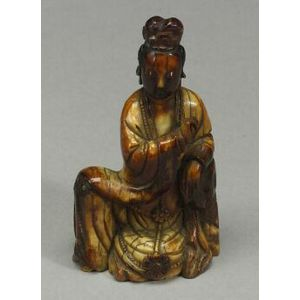 Ivory Figure of a Goddess