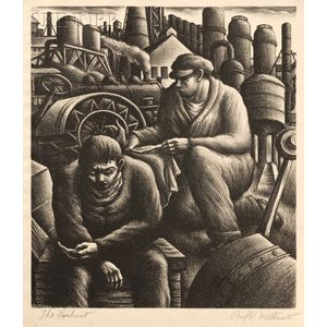 Paul Raphael Meltsner (American, 1905-1966)      Lot of Three Images of Factory Workers: Death of a Striker