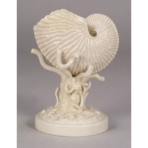 Belleek Porcelain Nautilus Shell Vase