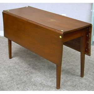 Cherry Drop-leaf Dining Table.