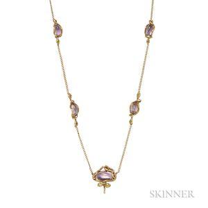Gold Gem-set Necklace