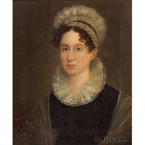Attributed to Henry Sargent (Massachusetts, 1770-1845)    Portrait of Fannie Paddock.