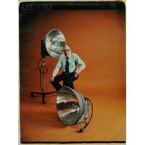 "American School, 20th Century      Portrait of Harold ""Doc"" Edgerton with Strobe Lights"