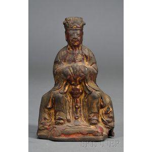 Parcel-gilt Bronze Figure