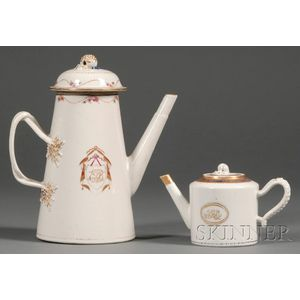 Chinese Export Porcelain Coffee and Teapots