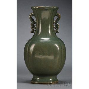 Teadust Glazed Vase