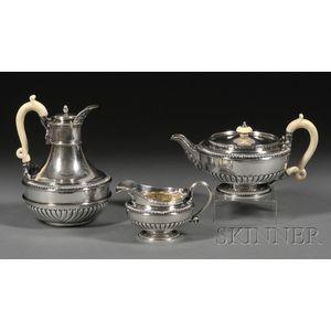 Three Piece George III Silver Tea Set