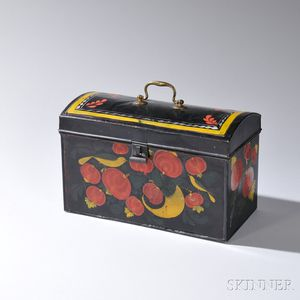 Large Tinware Dome-top Box