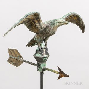 Molded Sheet Copper Eagle Weathervane