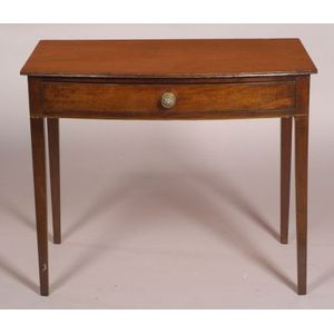 George III Mahogany Bow-fronted Side Table