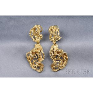 18kt Gold Earpendants